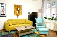 Připravuji: Prodej bytu 3+1 s terasou a 57m2 sklepních prostor, Palmovka, Libeň, Praha