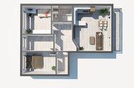 Prodej bytu 4+kk s lodžií a garáží v domě, Praha 4 - Chodov