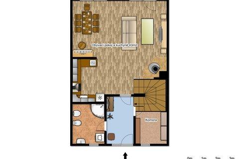 Prodej domu ve Veltrusech realitní makléř | realitní kancelář | reality Praha a okolí půdorys plánek