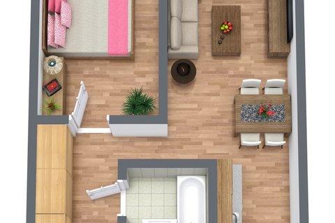 Floorplan letterhead - Untitled Project - 1. Floor - 3D Floor Plan