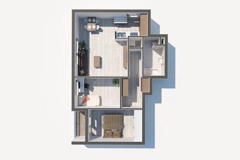 Na Hřebenkách byt 3+1