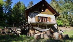 Prodej důmyslně řešené zděné chaty 4+1 s vlastním lesem, 8514 m2, Veselí u Dalečína