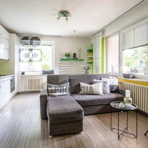 OV 2,5+kk, cihla, terasa, zahrádka, možnost rozšíření bytu, Brno - Komín