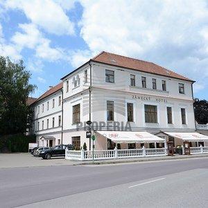 Prodej zámeckého hotelu v centru obce Vranov nad Dyjí, ul. 8. května, okr. Znojmo, 68 lůžek, konferenční sál pro 120 osob, vinárna, parking, CP pozemku 1.785 m2