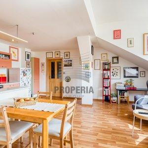 Prodej zděného bytu v OV 3+kk, ul. Čápkova, Brno - Veveří, CP 73 m2, vlastní kotel, sklep
