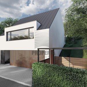 Prodej projektu RD 5+kk s 3 garážovými stáními, terasou a zahradou, pozemek 207m2, Brno - Bystrc