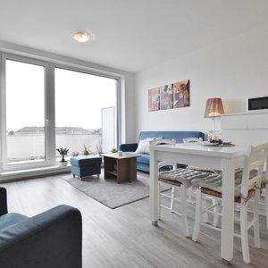 Pronájem bytu 2+KK s parkováním, terasou 13 m2 v novostavbě v Obřanech