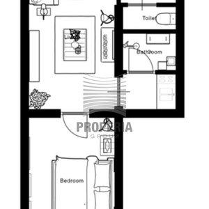 Vybavený byt 2+kk k pronájmu v Rezidenci Komárovské nábřeží