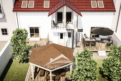modelace terasy s domem
