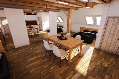 Prodej podkrovního bytu  3+kk+S+Z v RD, 65,73 m² s sklepem 27 m² a  zahradou 70,5 m² , Plzeň - Slovany, POZOR JARNÍ SLEVA 5% DO KONCE ČERVNA !, Ev.č.: 00018-1
