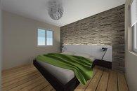RD Sněhotice typ DW89_vizualizace ložnice rodičů 2