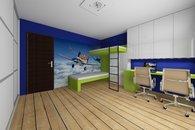 RD Sněhotice typ DW89_vizualizace dětského pokoje