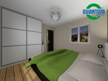 RD Sněhotice typ DW89_vizualizace ložnice rodičů