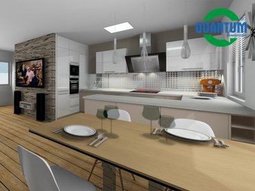 RD Sněhotice typ DW89_vizualizace kuchyně