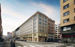 Pronájem kanceláře 600m² s terasou - Praha 1, Revoluční
