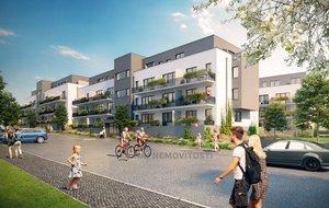 Prodej bytu 1+kk, 26,5 m2, balkon 6,1 m2, Projekt Unhošť, D 203