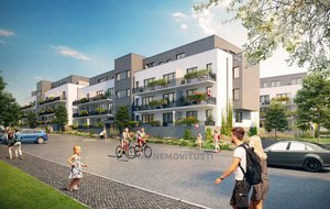 Prodej bytu 2+kk 41,6 m2, balkon 13,2 m2, Projekt Unhošť B 206