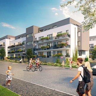 Prodej bytu 2+kk 41,6 m2, balkon 13,2 m2, Projekt Unhošť B 304