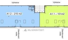 půdorys 366 m2 dělený