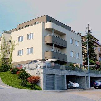 byt č. 3.03 - 4+kk 106,77 m2, terasa 31,58 m2, Vila Rokoska, Praha 8
