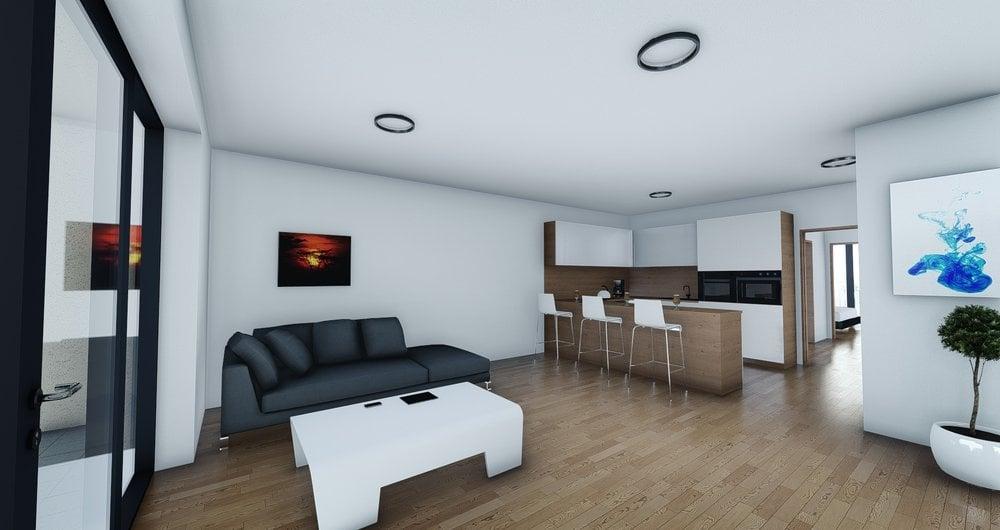 Novostavba bytu 2+kk s terasou v těsné blízkosti Brna