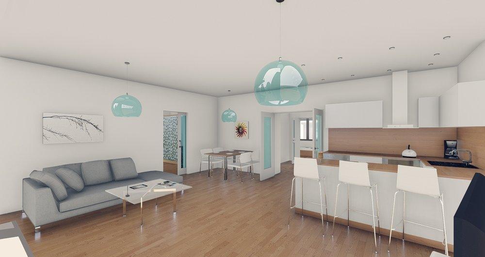 Prostorný byt 3+kk s terasou - Troubsko