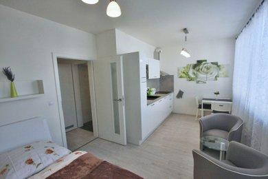 Pronájem Brno-Bystrc, byt 1+kk s garáž. stáním Nad Přehradou, Ev.č.: 100079-2