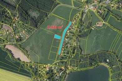 Prodej, Zemědělská půda, 7433m² - Stříbrná Skalice - Hradec, Ev.č.: 00306