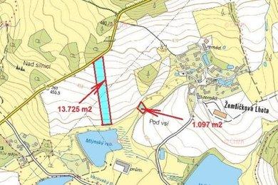Prodej, Zemědělská půda, 14822m² - Petrovice - Žemličkova Lhota, Ev.č.: 00308-2