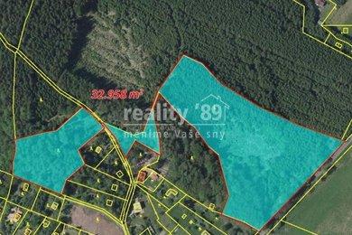 Prodej, Lesy, 7265m² - Stříbrná Skalice - Hradec, Ev.č.: 00305-1
