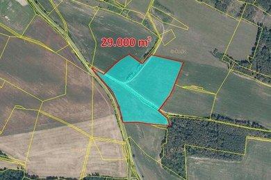 Prodej, Zemědělská půda, 41085m² - Županovice, Ev.č.: 00324