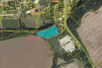 Prodej, Pozemky pro bydlení, 6672m² - Veleň, Ev.č.: 00336