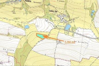 Prodej, Zemědělská půda, 7792m² - Obrataň - Sudkův Důl, Ev.č.: 00340