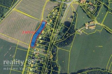 Prodej, Zemědělská půda, 2823m² - Stříbrná Skalice - Hradec, Ev.č.: 00306-1