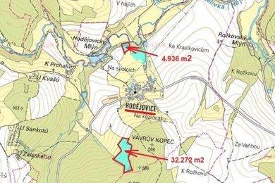 Prodej, Zemědělská půda, 40982m² - Pelhřimov - Hodějovice, Ev.č.: 00365