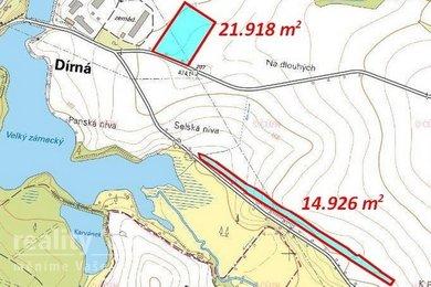 Prodej, Zemědělská půda, 40585m² - Dírná, Ev.č.: 00372