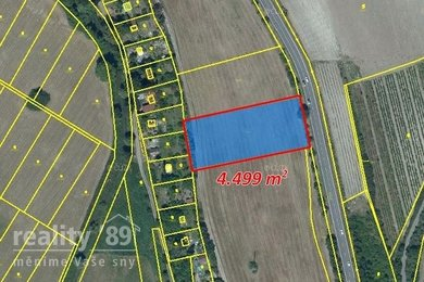 Prodej, Zemědělská půda, 4499m² - Kly, Ev.č.: 00387