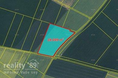 Prodej, Zemědělská půda, 34189m² - Sluhy, Ev.č.: 00397