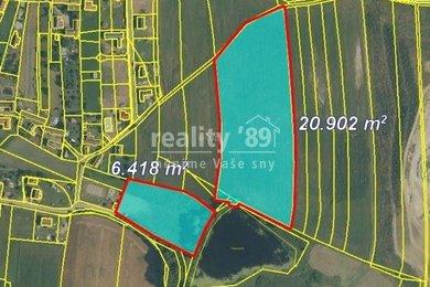 Prodej, Zemědělská půda, 53458m² - Dražičky, Ev.č.: 00084
