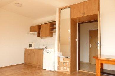 Podnájemní bydlení s pěkným výhledem do okolí. Podnájem bytu 1+kk, nový sprchový kout, toaleta, CP 28 m2, Blansko, část Písečná, Ev.č.: 19010275