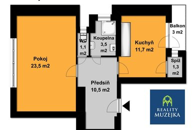 Prodej cihlového bytu Brno - Černá Pole, Ev.č.: 000705