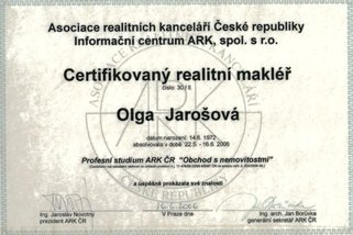 Olga Jarošová certifikace ARK