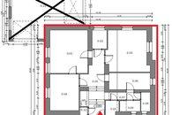 plánek - kanceláře Kampelíkova 11, Brno - vyznačeno