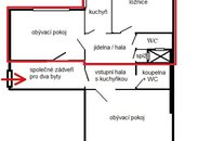 plánek bytu 2+1, Sušilova 11, Brno