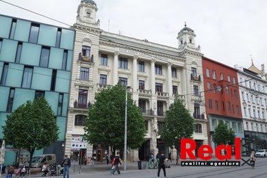 Pronájem prostorného bytu 3+1 s balkónovou terasou, CP 92m2, náměstí Svobody, Brno - střed, Ev.č.: 00219