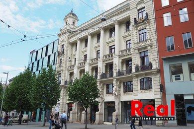 Pronájem prostorného bytu 3+1 s balkónem, CP bytu 114m2, náměstí Svobody, Brno - střed, Ev.č.: 00220