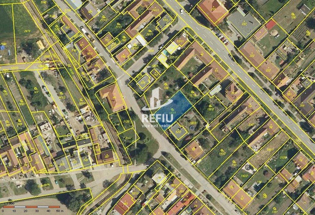 Snímek mapy - Popice