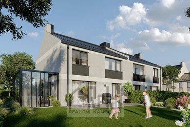 Strančice - řadové domy a zimní zahrada