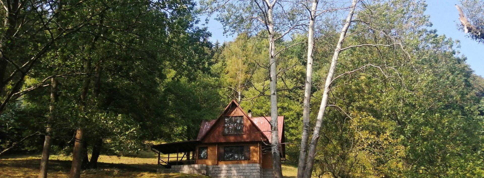 Prodej chaty s velkým pozemkem pod lesem, Ev.č.: N49154