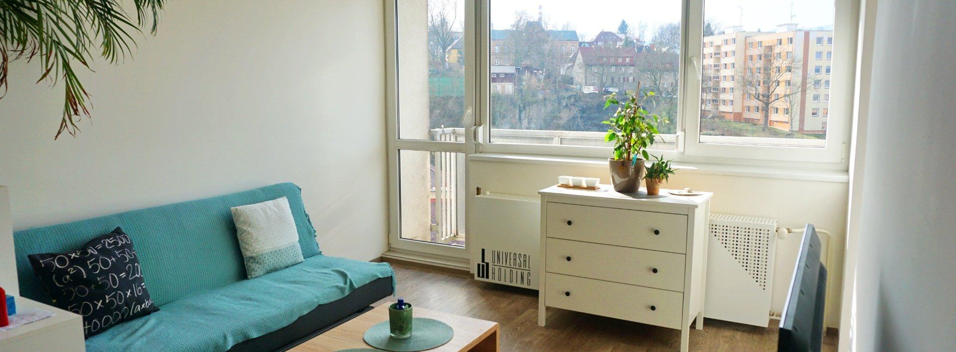 Pronájem pěkného slunného 1+kk s lodžií, 27 m² - Liberec IV-Perštýn, Ev.č.: N49182